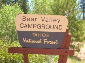 Bear Valley Campground in the Tahoe National Forest