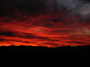 Sunset in Nevada High Desert