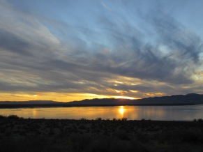 Rye Patch Reservoir, Nevada Desert