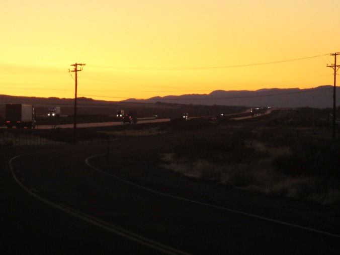Sunset in the Nevada Desert