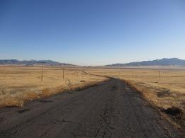 Road descending from Coal Canyon, Nevada Desert