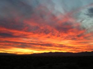 Desert Sunset, shot from Antelope Plains, Nevada