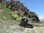 Camping in a Nevada Desert Canyon
