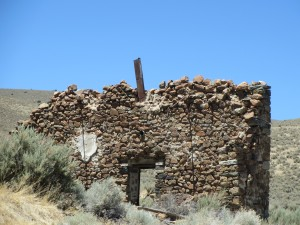 Facade of Old Stone Building, Unionville, Nevada