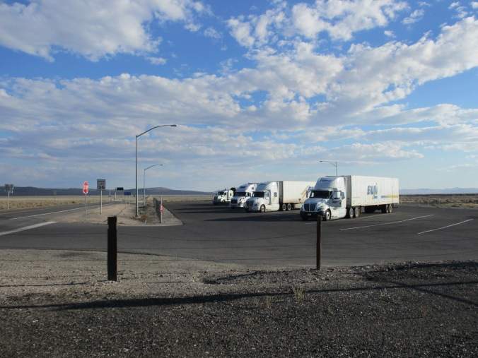 Truckers at Rest in the Nevada Desert