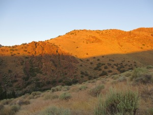Sunrise in Unionville Canyon