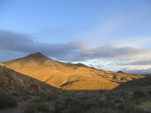 Nevada desert sunset, Kamma Mountains