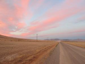 Nevada high desert sunset