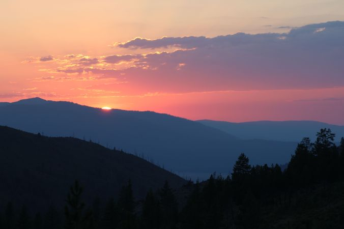 Sunset, Bear Valley Campground, Tahoe National Forest