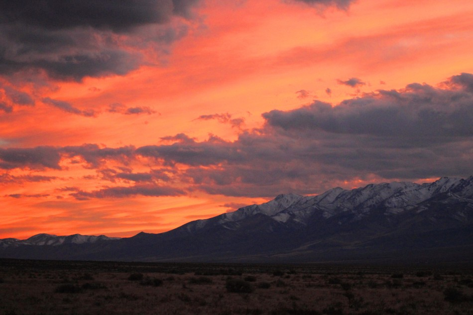 Desert Sunset, West Humboldt Range, Nevada