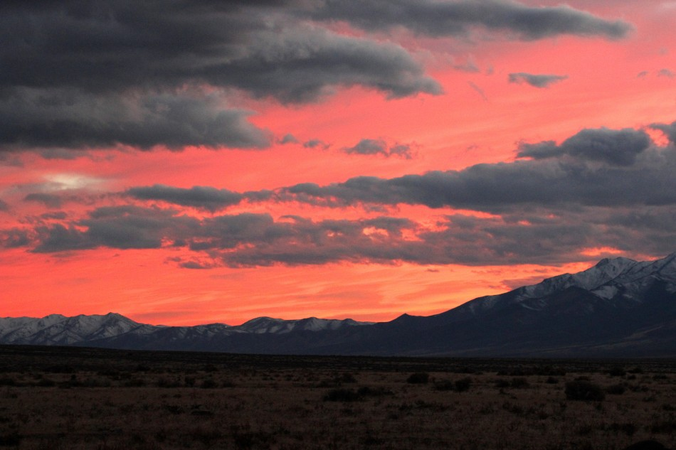 Desert Sunset, Willow Creek Road, Nevada