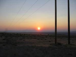 Nevada Desert Sunset, looking across Antelope Plains